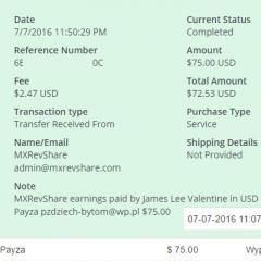 skromna wypłata z mxrevshare